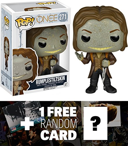 Rumplestiltskin: Funko POP! x Once Upon A Time Vinyl Figure + 1 FREE American TV Themed Trading Card Bundle (Evil Fairy Tale Characters)
