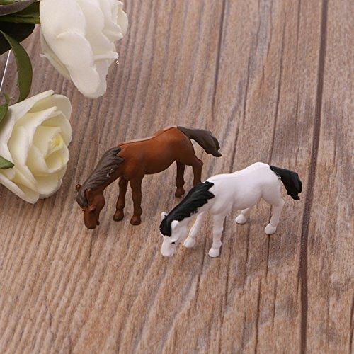 Kofun Cute Horse Figure Miniature Ornament Resin Doll Toy Dollhouse Bonsai Decor Coffee