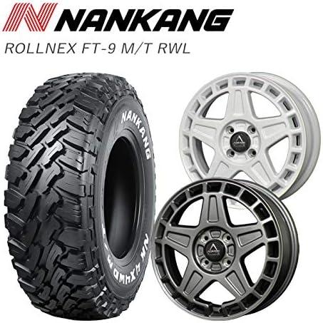 【NANKANG+ABYSS02】 タイヤ+ホイール 4本セット FT-9 M/T RWL 165/60R15 77S サマータイヤ 15インチ 鍛造 ホワイト 15×4.5J +45 4/100 組込発送 【PGFK-NKNFT9RWL-1656015-ABS2-WT】 ナンカン