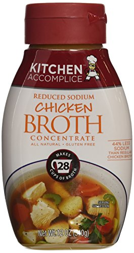 Kitchen Accomplice Reduced Sodium Chicken Broth Concentrate, 12 Ounce