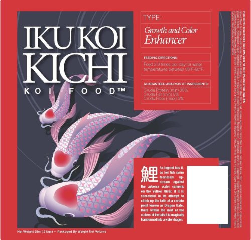 - IKU KOI KICHI Color Enhancer Koi Fish Food, 40-Pound