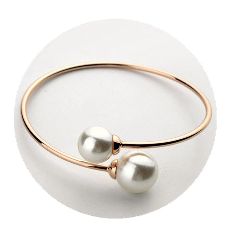 Fashion Charm Alloy Pearl Open Bracelet dongrong