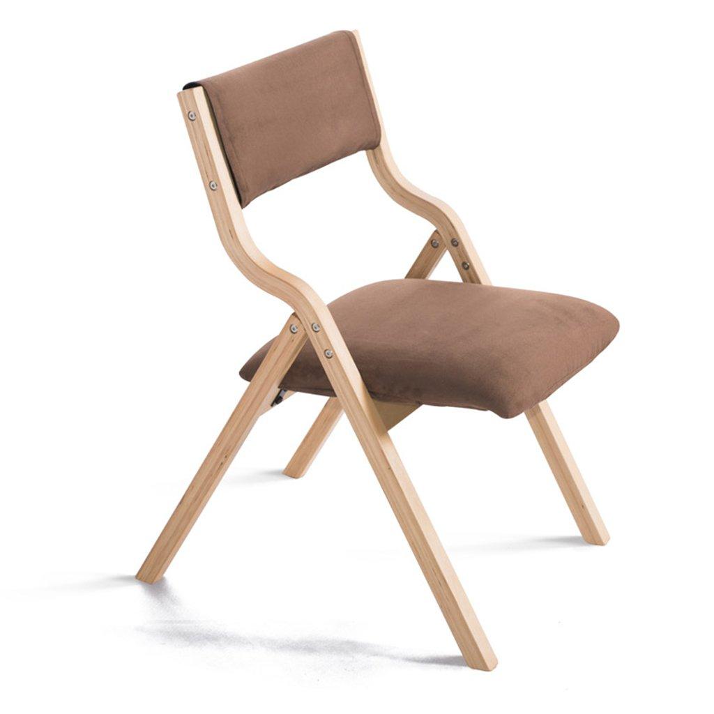 ZXLDP ダイニングチェア ソリッドウッドの折りたたみ椅子現代の家の背もたれの椅子の布の椅子コンピュータチェア(カラーオプション付き) ( 色 : #4 ) B0781DSB72 #4 #4