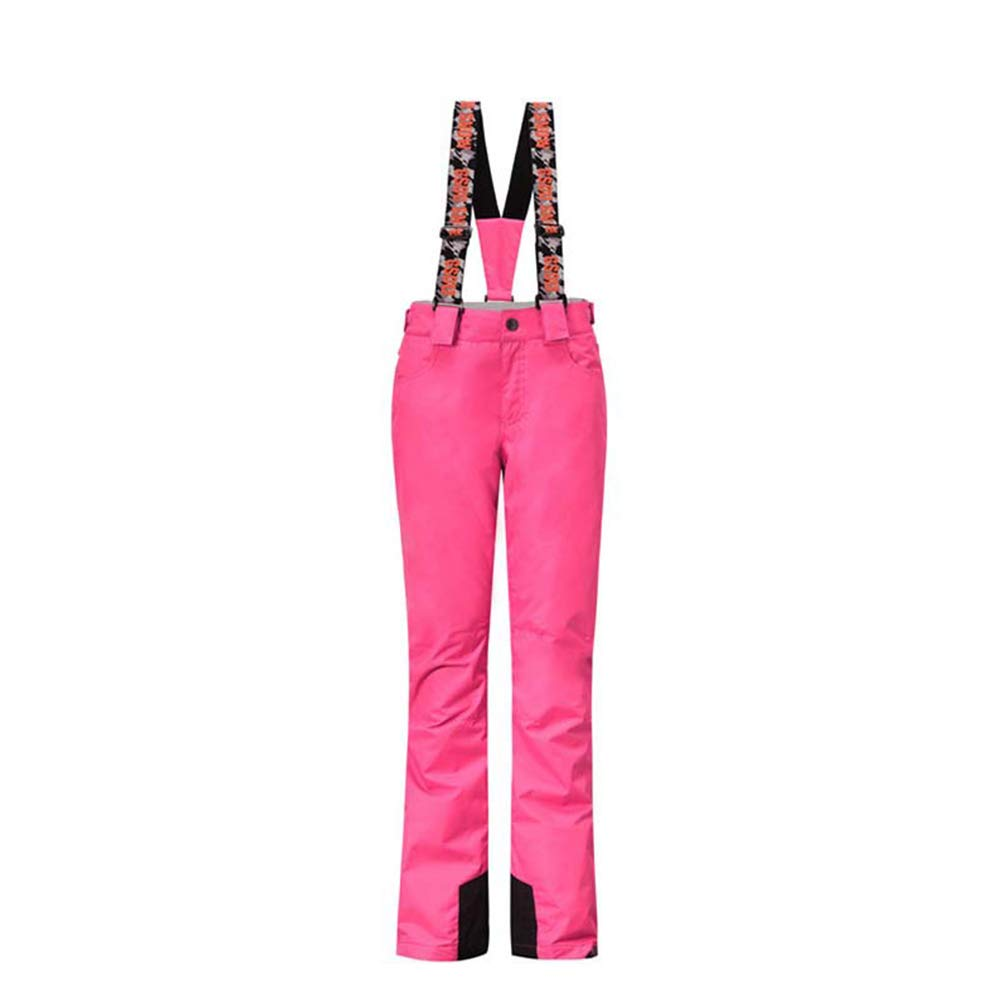 Alte Green Warm Ski Pants Straps, Ladies Solid color Outdoor Breathable Sports Trousers