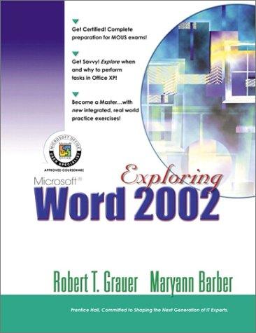 Download Exploring Microsoft Word 2002 (Volume 1) pdf