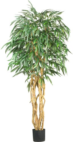Nearly Natural 5213 Weeping Ficus Silk Tree, 6-Feet, Green
