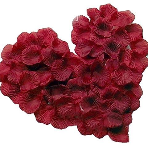 Magik 1000~5000 Pcs Silk Flower Rose Petals Wedding Party Pasty Tabel Decorations, Various Choices (1000, Burgundy) - 1000 Di Rosa Di Seta Petali
