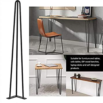 Juego de 4 patas mesa a forcina, patas pies para muebles y escritorio, mesa, mesa de comedor, de acero: Amazon.es: Bricolaje y herramientas