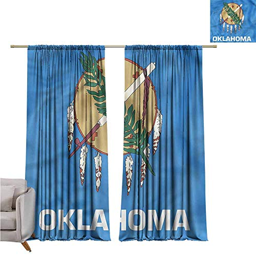 - zojihouse AmericanKids Room Blackout Thermal Insulated Curtains, Native Americans Oklahoma W107xL82