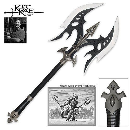 (United Cutlery KR0022B Kit Rae, Black Legion Battle Axe Black)