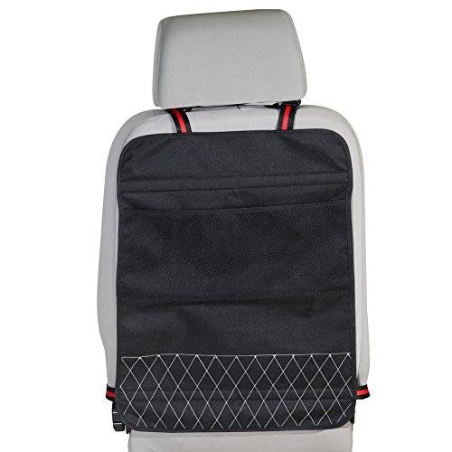 스토리지 포켓 2 개짜리 이마이 킥 매트, 뒷좌석 보호 장치 어린이가 자동차 쿠션 방지 (검정색)/Eamay Kick Mats with Storage Pocket 2 Packs,Backseat Protector Children Kicking Prevent Cushion for Cars(Black)