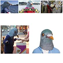 OM(TM) Halloween Creepy Realistic Green Pigeon Masks -Symbol of Peace -Fancy Dress