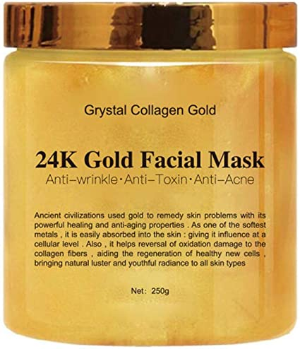 24k Gold Peel Off Mask Anti Wrinkle Anti Aging Facial Mask Face Care Whitening Face Masks Skin Care Face Lifting Firming Mask, 250g: Amazon.es: Belleza