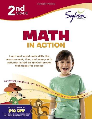 Read Online Second Grade Math in Action (Sylvan Workbooks) (Sylvan Math Workbooks) PDF