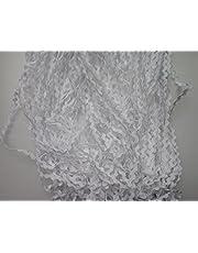 Lyracces Wholesale Lots 50yards Mini Woven Zigzag Rick Rack Ribbon RIC Rac Trims Scrapbooking Dressmaking (3mm, White)