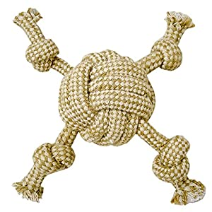 Blue Ribbon Tug-O-Rope Cambric Rope Monkey Fist with Arms Dog Toy Click on image for further info.