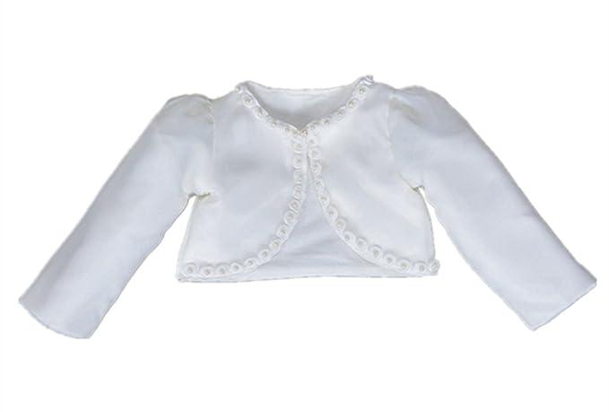 36015956cf2a Amazon.com  HX Baby Girl s Beaded Long Sleeve Bolero Shrug Jacket ...