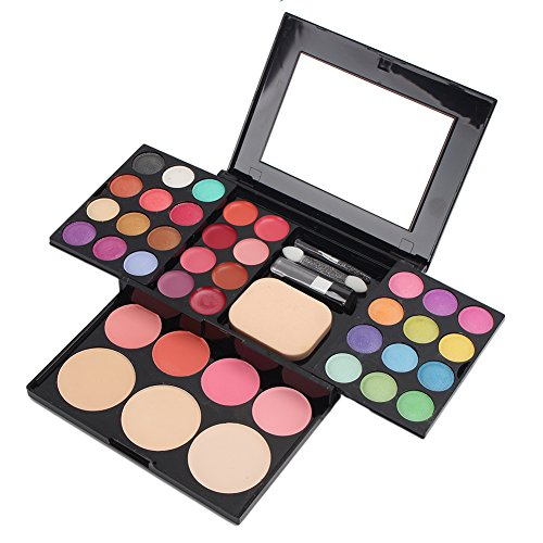 39 Color Professional Multi Color Eyeshadow & Blusher & Lip Gloss Makeup Cosmetic Palette Set free shipping