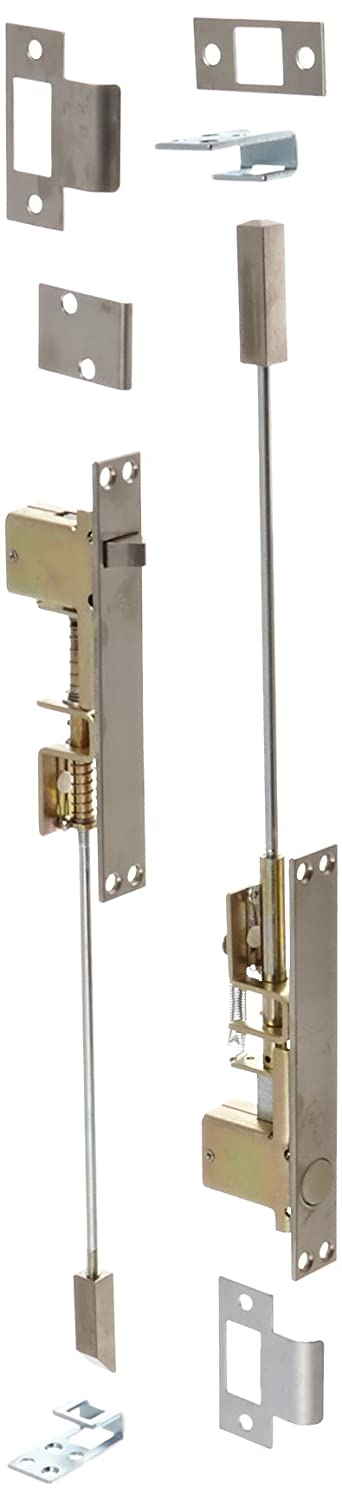 1 Width x 6-3//4 Height Satin Finish 1 Width x 6-3//4 Height Rockwood Manufacturing Company Rockwood 2845.32D Stainless Steel Combination Flush Bolt Set for Metal Doors