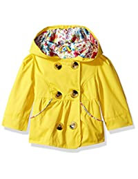 Pink Platinum Baby Girls Emma Spring Jacket Double Breasted Trench Coat, Yellow, 3-6 Months