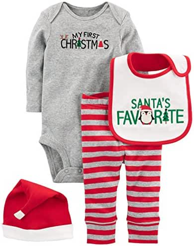 Simple Joys by Carter's Baby 4-Piece My First Christmas Set