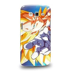 Case88 Premium Designs Dragon Ball Z GT AF Son Goku Super Saiyan Super Saiyan Vegetto Carcasa/Funda dura para el Samsung Galaxy Grand 2