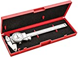 "Starrett 3202-6 Dial Caliper, Hardened Stainless Steel, 0-6"" Range, 0.001"" Graduation, White"