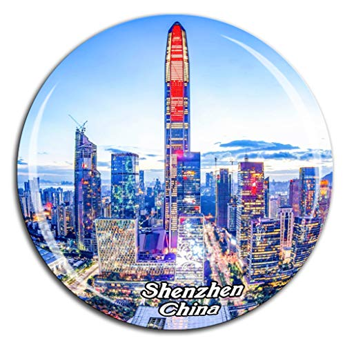 Shenzhen China Fridge Magnet 3D Crystal Glass Tourist City Travel Souvenir Collection Gift Strong Refrigerator Sticker