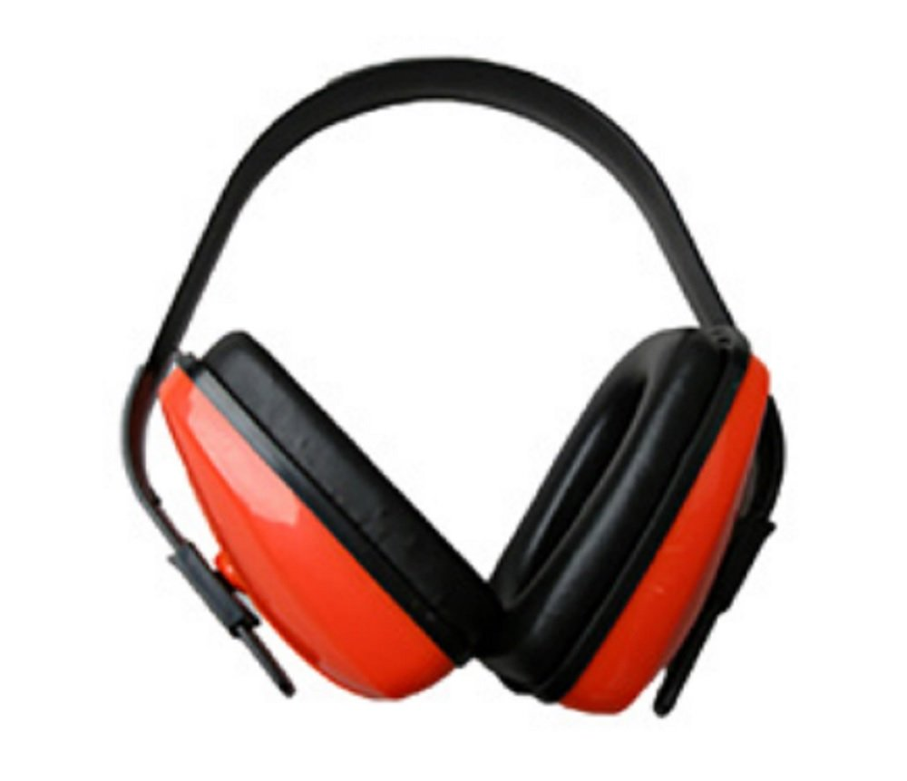 Safety Orange Black Ear Muffs. Adjustable Headband Earmuffs for Extended Wear. Comfortable Ear Cups. Premium Quality Hearing Protection. Best Ear Defenders for Construction, Industrial, Firearm Use.
