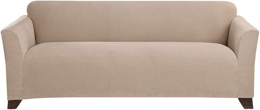SureFit Stretch Morgan 1-Piece - Sofa Slipcover - Khaki