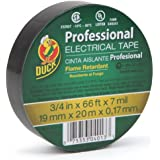 Duck Brand 393119 Professional Electrical Tape, 0.75-Inch by 66-Feet, Single Roll, Black