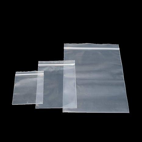 200 bolsas de plástico transparentes con cierre de ...