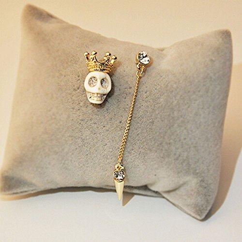 Fashion Skull Head Long Women Earrings Jewlry Stud ()