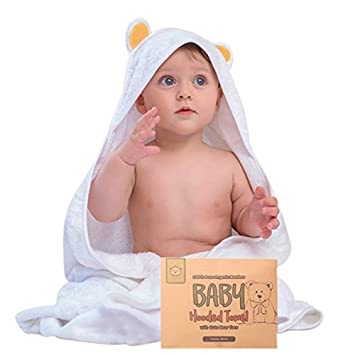 af19078603 Baby Hooded Towel - Bamboo Baby Towel by KeaBabies - Organic Bamboo Towel -  Infant Towels