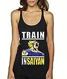 New Way 292 - Women's Tank-Top Train Insaiyan Gym Workout Goku DBZ Dragon Ball Z Medium Black