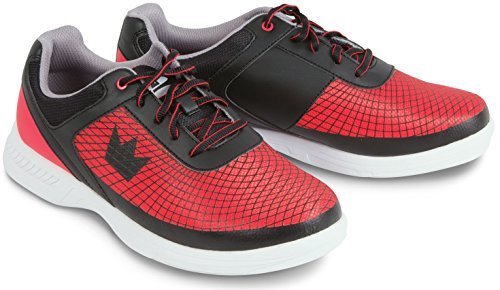 Brunswick Frenzy Mens Bowling Shoe Black/Red, 7.5