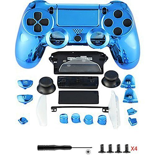 Canamite Replacement Parts Full PS4 Controller Housing Shell Protective  Case Cover Button Kit for PlayStation 4 DUALSHOCK 4 Controller