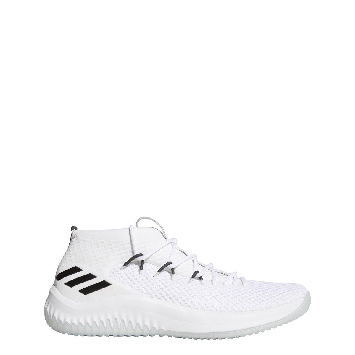 4037d6b40f1d Galleon - Adidas Men s Dame 4 Basketball Shoes White Black Size 9 M US