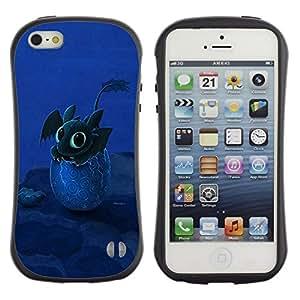 """Hypernova Slim Fit Dual Barniz Protector Caso Case Funda Para Apple iPhone SE / iPhone 5 / iPhone 5S [Diseño feliz lindo del dragón""""]"""