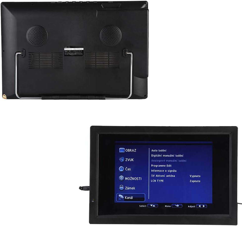 Televisor Digital, LCD de 14 Pulgadas Antena HDTV portátil TV Digital Antena de televisión amplificada 1080P ATV/UHF/VHF Sintonizador de Alta sensibilidad Programa de TV Grabación: Amazon.es: Electrónica