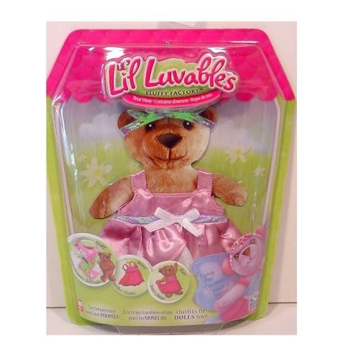 Puppet Master And Doll Costume (Lil Luvables Fluffy Factory Bear Wear - Fantasy Fun Pink Princess Outfit)