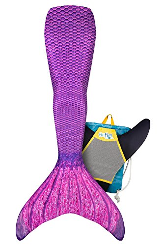 Mermaid Tail, Reinforced tips, Monofin, Backpack, Asian Magenta, Size Adult AXS (Axs Pool)