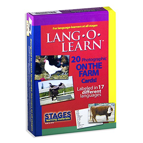 Stages Learning Materials Stages Learning Materials Lang-O-Learn ESL Farm Photo Vocabulary Cards Flashcards for English, Spanish, French, German, Italian, Chinese, Korean +More