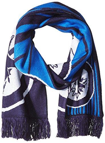 fan products of NHL Winnipeg Jets SP17 Arrow Knit Jacquard Scarf, Blue, One Size