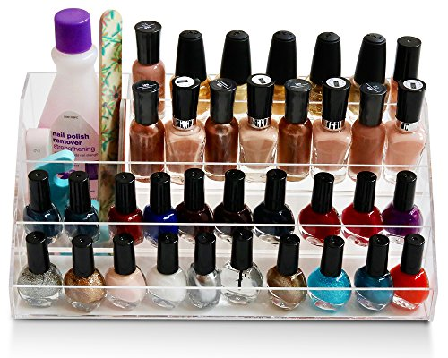daisi Nail Polish Holder Multi-Level Premium Quality Acrylic Organizer Nail Polish Storage