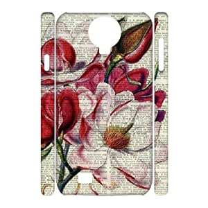 Vintage Flower Watercolor Unique Design 3D Cover Case for SamSung Galaxy S4 I9500,custom cover case ygtg587249
