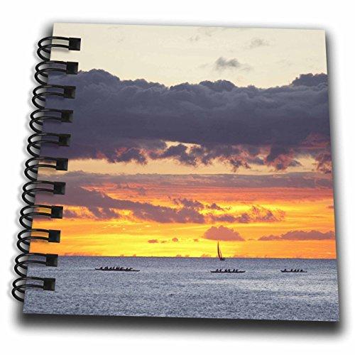 3dRose db_143983_3 Ala Moana Beach Park, Waikiki, Honolulu, Hawaii - Us12 Dpb2390 - Douglas Peebles - Mini Notepad, 4 by - Ala Hawaii Moana