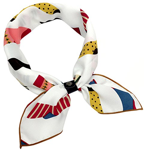 (BaiX Women's Multiple Prints Square Scarf Neckerchief Hair Neck Scarves Pattern #22 )