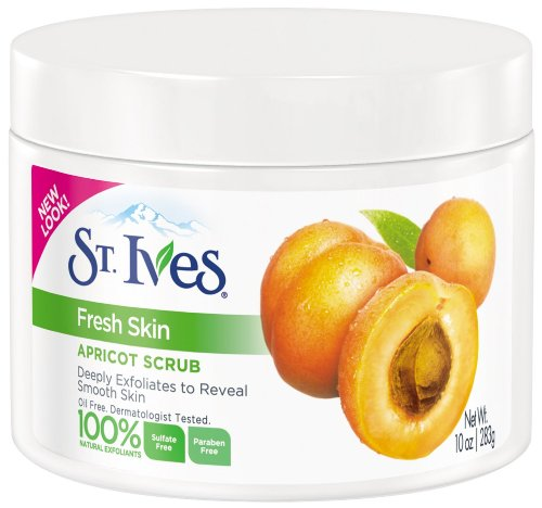 St. Ives Fresh Skin Exfoliating Apricot Scrub, 283ml, 10 fl.oz. (Pack of (Ives Scrub)