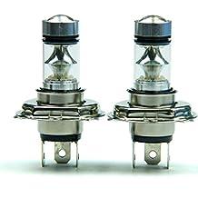 Leewos 2 PCS 100W H4 LED Bulb 20 SMD Car Fog Light, 12V - 24V Low Consumption Energy Plug & Play Service Long Life